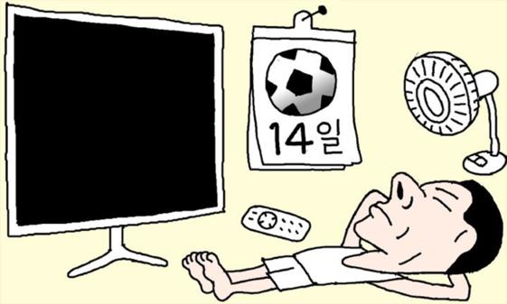 14일 밤 12시 개막하는 러시아 월드컵은 포털을 통해 생중계로 못 보게 됐다. /조선DB