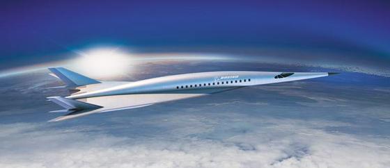 보잉이 26일 공개한 극초음속 여객기의 디자인 콘셉트. 보잉은 오는 2023년 뉴욕에서 런던까지 2시간 만에 가는 극초음속 여객기를 내놓을 계획이다.