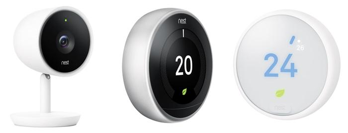 배성균씨가 디자인한 안면 인식 기술 탑재 웹캠 '캠 IQ'(사진 왼쪽), 네스트의 온도조절기(사진 가운데와 오른쪽).