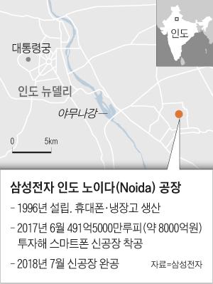 삼성전자 인도 노이다 공장 위치 지도