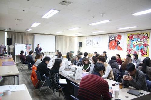 핸디온 사업자들이 본사에서 교육을 받고 있다. /한국창업전략연구소 제공