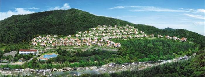 전원주택과 별장, 주말농장의 장점을 모은 아리전원주택. 유럽에서 인기를 끌고 있는 '클라인가르덴'을 벤치마킹해서 힐링마을 3단지 90세대를 조성했다.