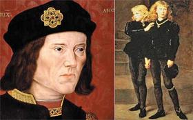 리처드 3세와 런던 탑에 유폐된 두 조카.