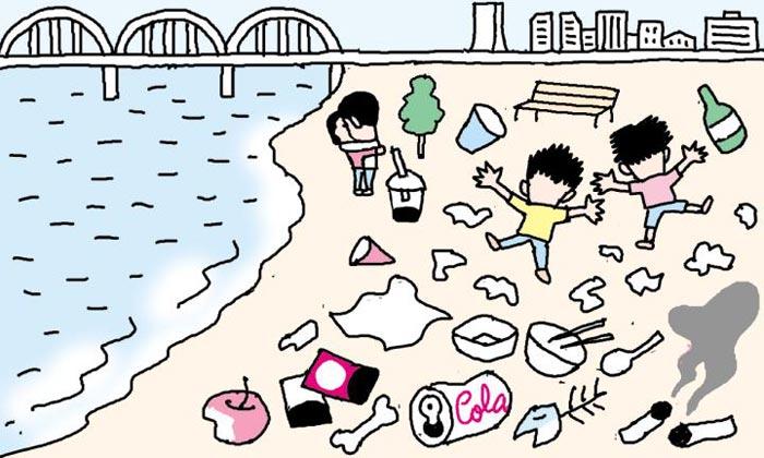 [만물상] 한강 공원의 쓰레기