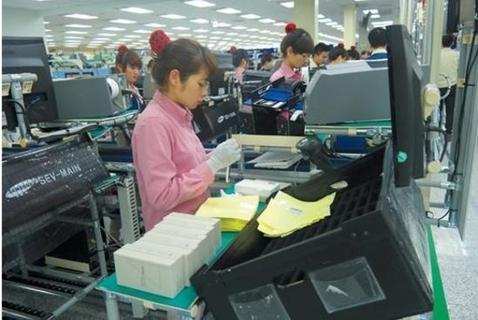 삼성전자 베트남 박난성공장 휴대전화 생산라인. /삼성전자 제공