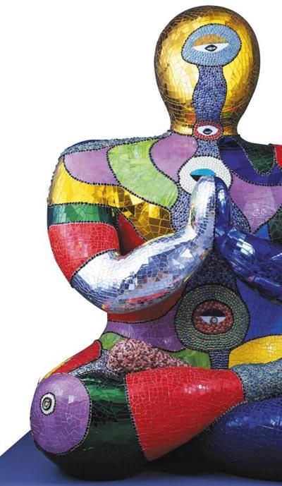 니키 드 생팔의 '부처'(Buddha·1999)의 일부.