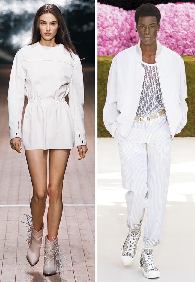 이자벨 마랑이 2018 가을·겨울 패션쇼에서 선보인 의상(왼쪽)과 디오르의 2019년 봄·여름 패션쇼 의상.