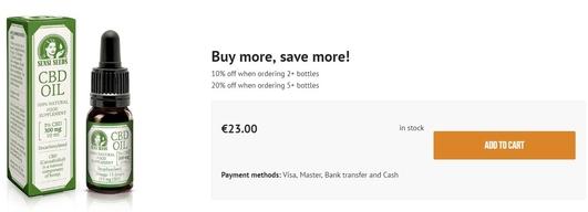 해외에서는 온라인 쇼핑몰을 통해서 CBD오일을 구매할 수 있다. /sensiseeds.com 제공