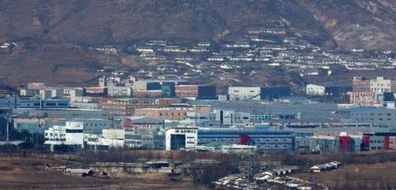 지난해 경기도 도라전망대에서 촬영된 개성공단의 모습. /조선DB