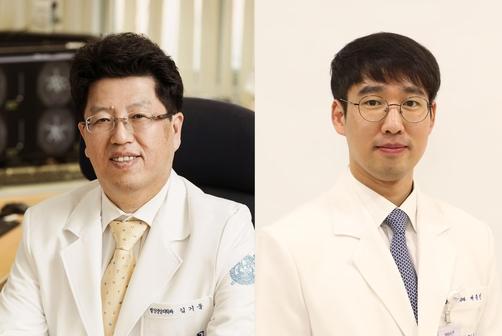왼쪽부터 연구를 수행한 분당서울대병원 김기웅 교수, 배종빈 임상 감사. /분당서울대병원 제공