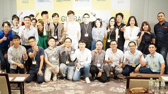 9일 베트남 호치민에서 열린 옐로스토리 '레뷰' 글로벌 론칭 기념 행사 현장. /퓨쳐스트림네트웍스(FSN) 제공