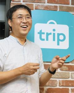 최휘영 트리플 대표가 지난 3일 경기 판교에 있는 회사 사무실에서 본지와 인터뷰를 하고 있다.
