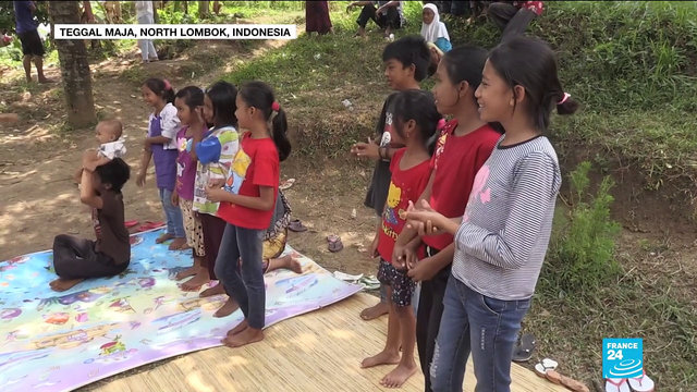 [France 24] Indonesia earthquake: aid workers help children to cope in aftermath of disaster