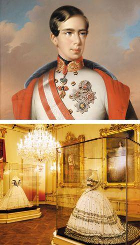 프란츠 요제프 황제(위 사진)와 시씨 박물관.