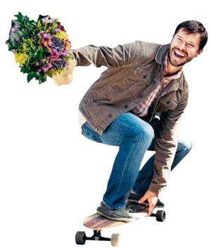 미국 온라인 꽃 주문 스타트업 '부크스'의 존 태비스 CEO.