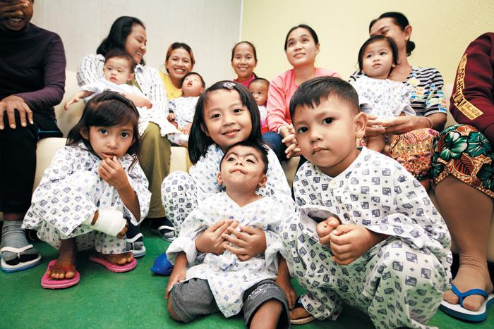 이번에 수술받은 캄보디아 어린이들.