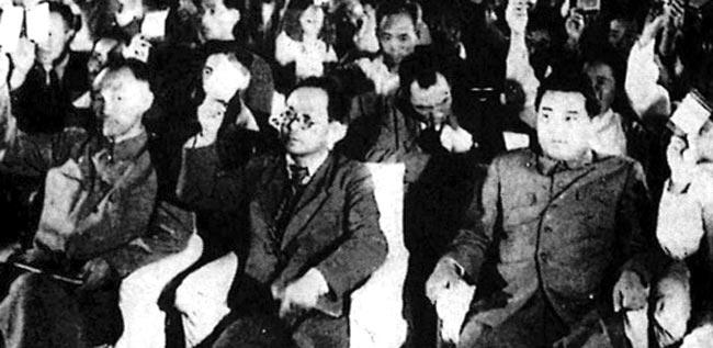 1948년 9월 2일 개막한 북한 최고인민회의 제1차 회의 모습.