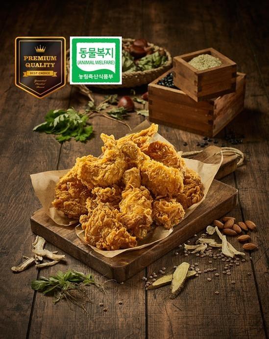 자담치킨은 동물복지 인증 닭을 사용하고 있다. /한국창업전략연구소 제공