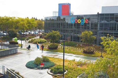 미국 캘리포니아주 마운틴뷰에 있는 구글 본사 전경.