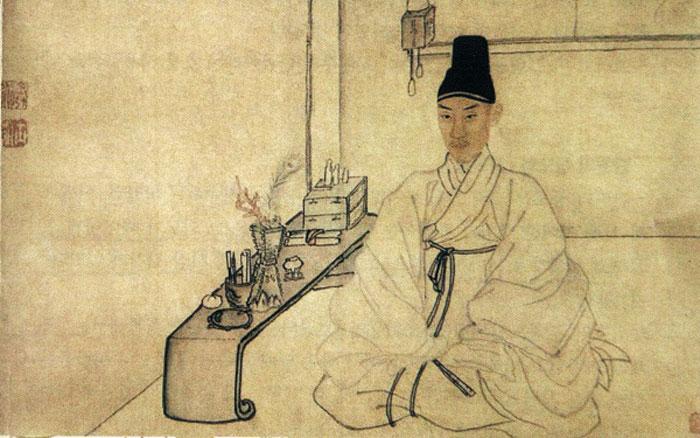 김홍도 자화상.