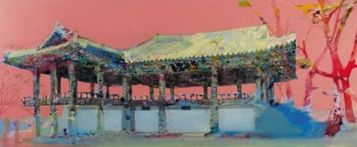 1998년작 '련광정'(60×140㎝·종이에 수채).