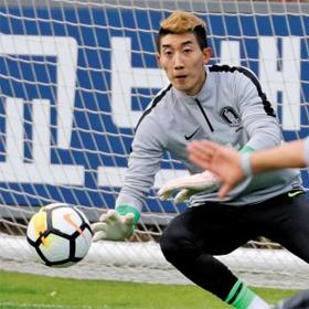 최고의 한 해를 보내고 있는 한국 축구 대표팀 골키퍼 조현우가 9일 파주 NFC에서 훈련하는 모습.