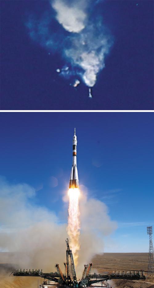 소유스, 발사 123초만에 폭발… 우주비행사 2명은 탈출