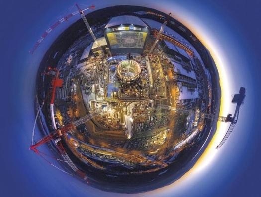 꿈의 에너지를 지구에 공급하는 ITER 건설현장을 지구에 담았다. /ITER 제공.
