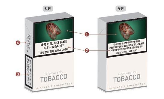 오는 12월 23일부터 새롭게 변경되는 담뱃갑 경고 그림과 문구 예시. /보건복지부 제공