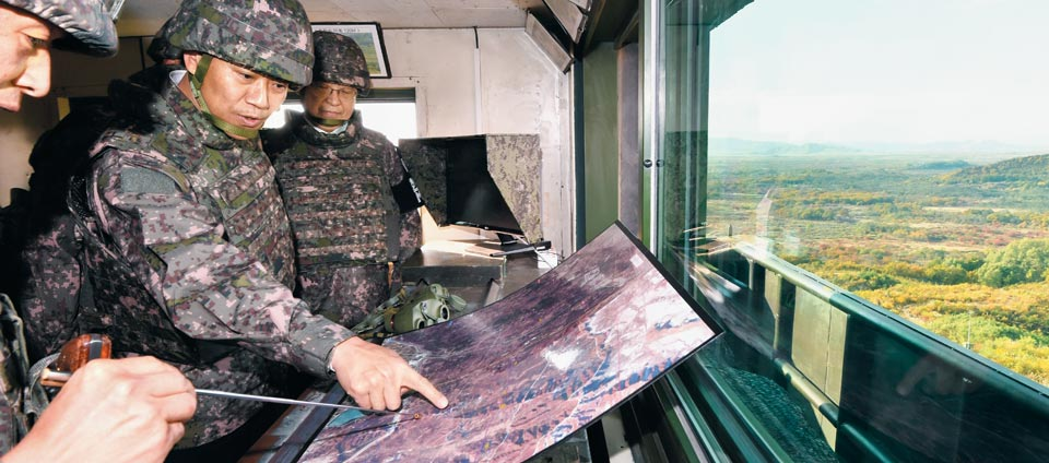 임종석 실장, DMZ 지뢰 제거 현장 방문