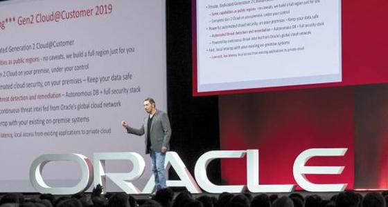 """지난 22일(현지 시각) 미국 샌프란시스코 모스코니센터에서 열린 오라클의 연례 개발자 대회 '오픈월드 2018'에서 래리 엘리슨 오라클 창업자 겸 회장은 """"인공지능과 머신러닝을 활용해 스스로 버그를 고치는 클라우드를 개발했다""""고 말했다."""
