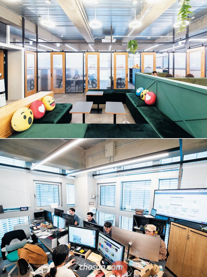 5층에는 입주사의 사무 공간이 자리하고 있다.