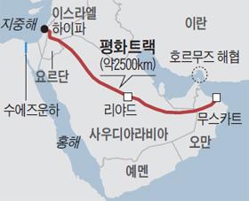 평화트랙 지도