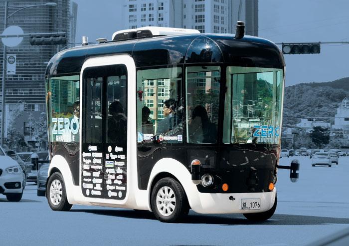 로봇 자율주행버스 '제로 셔틀'.