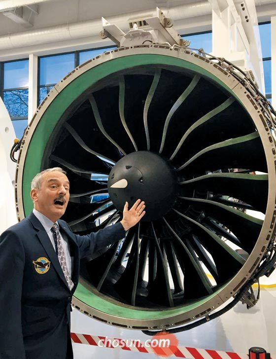 At the headquarters of the aircraft engineer Hartford, Connecticut, USA, the company's innovative engine model GTF (Geared Turbo Fan).