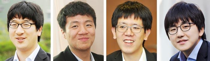 왼쪽부터 박영훈 이영구 강동윤 김지석.