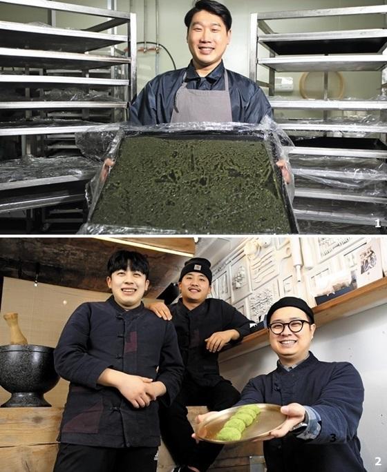 1 서울 '경기떡집'의 장남이자 운영을 맡고 있는 최대로씨.2 젊은 떡후들의 실험실 같은 서울 '조복남'.