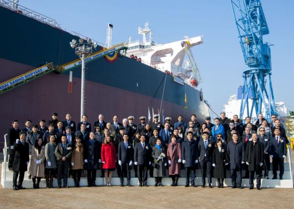 현대삼호중공업, 올해 첫 선박 명명식 열어
