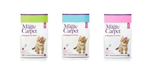 고양이 모래 '매직카펫', 판매 훨훨...45만개 팔려