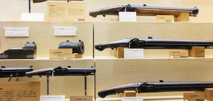 다네가시마 철포박물관에 전시된 각종 총포들. 모두 일본 국산이다.