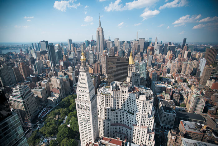미국 뉴욕 맨해튼 빌딩 숲 전경. 2017년 5월 이스트 22번가 매디슨 스퀘어 파크 타워 위에서 본 풍경이다. / 블룸버그