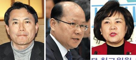 (왼쪽부터)김진태, 이종명, 김순례