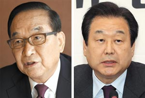 서청원(왼쪽), 김무성