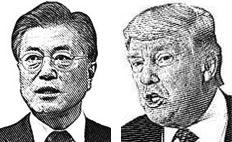 문재인 대통령(왼쪽), 트럼프 대통령