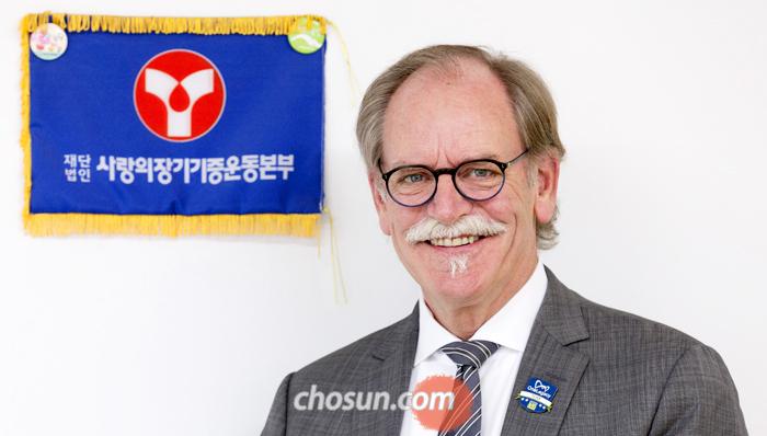 6일 미국 장기기증 단체 '원레거시'의 톰 몬 회장이 서울 서대문 사랑의장기기증본부를 찾았다.