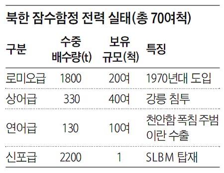 북한 잠수함정 전력 실태