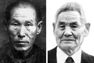 계봉우 선생(왼쪽), 황운정 선생