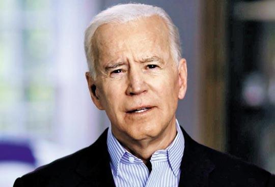 조 바이든 전 미국 부통령이 25일(현지 시각) 자신의 트위터에 올린 3분 30초짜리 동영상에서 차기 대선 출마를 선언하고 있다.