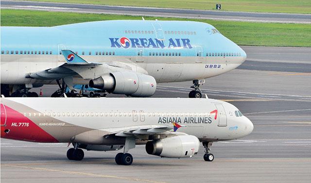 대한항공과 아시아나항공./뉴시스