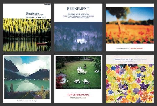 'Reminiscence' 'Lake Misty Blue' 'Refinement' 외에도 유키 구라모토의 음반들은 한국에서 꾸준히 환영받았다.